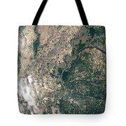 Satellite Image Of Flood Waters Tote Bag