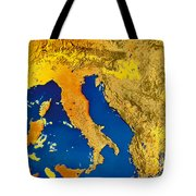 Satellite Image Of Italy Tote Bag