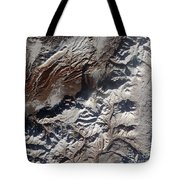 Satellite Image Of Russias Kizimen Tote Bag