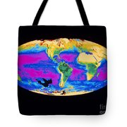 Satellite Image Of The Earths Biosphere Tote Bag
