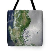Satellite Image Of The Northern Tote Bag