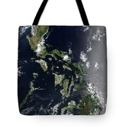 Satellite Image Of The Philippines Tote Bag