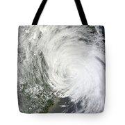 Satellite Image Of Tropical Storm Muifa Tote Bag