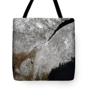 Satellite View Of A Frosty Landscape Tote Bag by Stocktrek Images