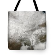 Satellite View Of A Severe Winter Storm Tote Bag