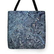 Satellite View Of Charlotte, North Tote Bag by Stocktrek Images