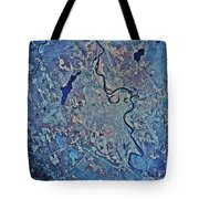Satellite View Of Concord, New Tote Bag