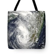 Satellite View Of Cyclone Giovanna Tote Bag