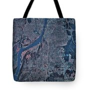 Satellite View Of Little Rock, Arkansas Tote Bag