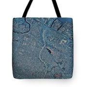 Satellite View Of Newark, New Jersey Tote Bag