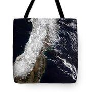 Satellite View Of Northeast Japan Tote Bag by Stocktrek Images