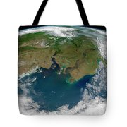 Satellite View Of The Ob And Yenisei Tote Bag