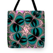 Satin Flowers And Butterflies Fractal 122 Tote Bag