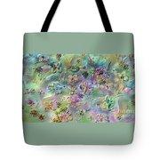 Satin Flowers Tote Bag