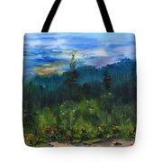 Sawbill Overlook Sunset Tote Bag