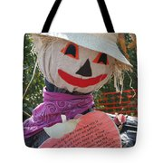 Scarecrow Andy Tote Bag