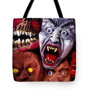 Scary Halloween Masks Tote Bag