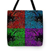 Scary Spider Serigraph Tote Bag