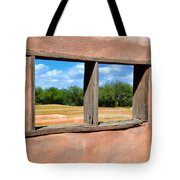 Scene From A Priests Window Tote Bag