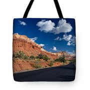 Scenic Drive Through Capitol Reef National Park Tote Bag