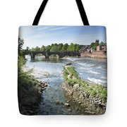 Scenic Landscape With Old Dee Bridge Tote Bag