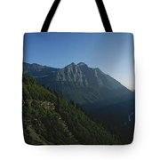 Scenic Overlook In Glacier National Tote Bag