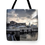 Scenic Philadelphia Winter Tote Bag
