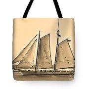 Scenic Schooner - Sepia Tote Bag