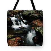 Scenic View Of A Waterfall On Smith Tote Bag