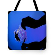 Schlieren Image Of A Balloon Popping Tote Bag