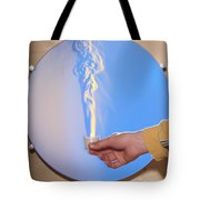 Schlieren Image Of A Candle Tote Bag