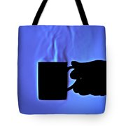 Schlieren Image Of Hot Coffee Cup Tote Bag