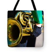 School Band Horn Tote Bag