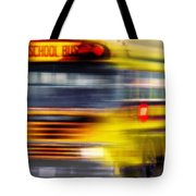 School Bus Rush Tote Bag