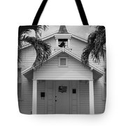 School House In Black And White Tote Bag