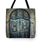 Schoolhouse Entrance Tote Bag by Jutta Maria Pusl