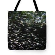 Schooling Fish Under Red Mangrove  Tote Bag