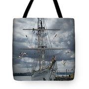 Schooner In Halifax Harbor Tote Bag