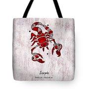 Scorpio Artwork Tote Bag