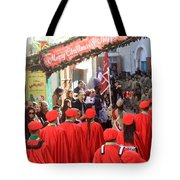 Scouts Parade In Bethlehem At Star Street Tote Bag