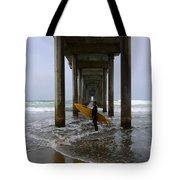 Scripps Pier Surfer 2 Tote Bag