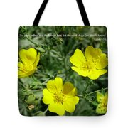 Scriptue And Picture Isaiah 40 8 Tote Bag