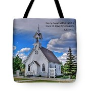 Scriptue And Picture Isaiah 56 7 Tote Bag