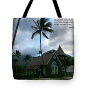 Scripture And Picture Ephesians 3 21 Tote Bag