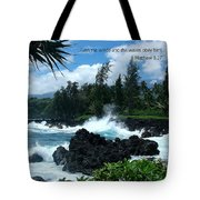 Scripture And Picture Matthew 8 27 Tote Bag