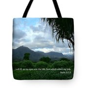 Scripture And Picture Psalm 121 1 Tote Bag