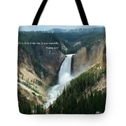 Scripture And Picture Psalms 42 7 Tote Bag