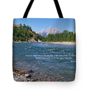 Scripture And Picture Revelation 22 1 Tote Bag