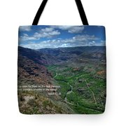 Scriture And Picture Isaiah 41 18 Tote Bag