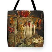 Sculpture Of Wrathful Protective Deity Tote Bag